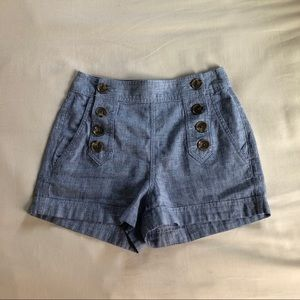 High Waisted Buttoned Shorts